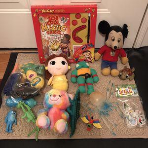 Toys magic kit figures stuffed animals figurines mickey tmnt lot for Sale in Burtonsville, MD