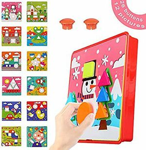 Color Matching Mosaic Pegboard Early Learning Educational Toys Geometry Shape Puzzle Peg Board Games for Preschool Kids for Sale in Rancho Palos Verdes, CA