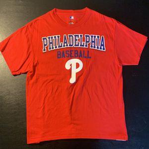 MLB Genuine Merchandise Philadelphia Phillies Baseball Tee Size L for Sale in Middletown, PA