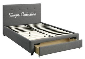 NEW IN THE BOX. FULL SIZE STORAGE BED FRAME, GREY COLOR, SKU# TCF9330QF for Sale in Santa Ana, CA