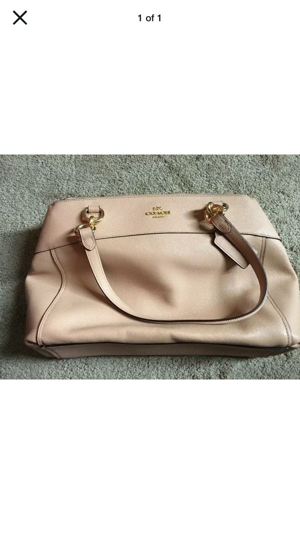 Used Authentic Coach bag with free scarf