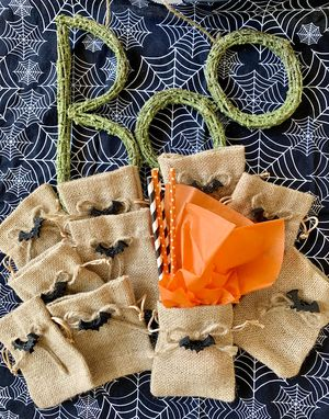 Set of 10 Drawstring Jute Bags for Halloween Treats for Sale in Murrieta, CA