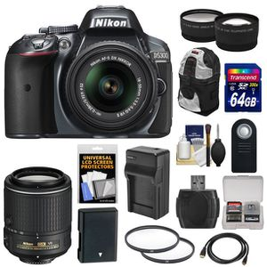 Nikon D5300 with 18-140mm and 70-300mm lens plus starter kit for Sale in Suffolk, VA