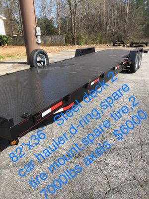 Car haulers car trailer equipment trailer dump trailer utility trailer dolly tow truck trailers for Sale in Hialeah, FL