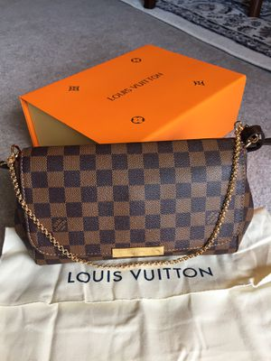 Louis Vuitton LV Damier Ebene Brown Checkered Favorite MM Crossbody Bag Purse Handbag for Sale in Downers Grove, IL