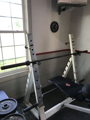 Selling only 7'barbell with 2-33 lb plates for Sale in Columbia Station, OH