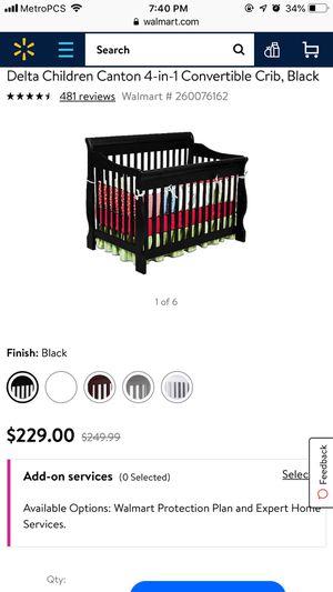 Wooden black delta lifetime crib for Sale in Princeton, FL