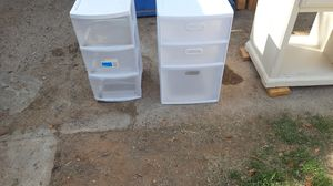 Plastic drawers for only $10 for both .. for Sale in Queen Creek, AZ