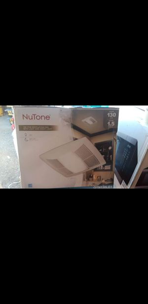 New NuTone 130CFM Ventilation Fan with Light and night light ☆Pick up only☆ for Sale in Phoenix, AZ