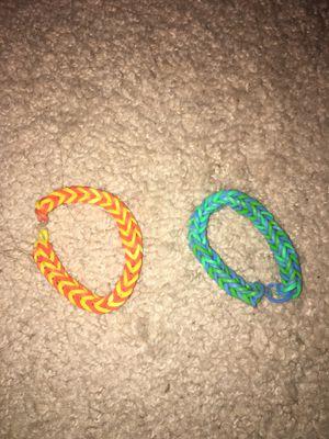2 fish tall rainbow loom bracelets for Sale in Alexandria, VA