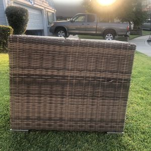 Outdoor Rattan Patio Pool Wicker Cooler Table Ice Cube W/Wastebasket, Mix Brown for Sale in Ontario, CA