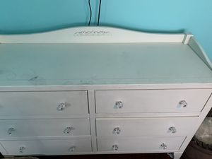 """Pottery Barn bedroom pieces 6 drawer dresser - length 58"""" height 36"""" width 20"""" Night stand Desk with chair Some minor wear and tear. for Sale in Los Angeles, CA"""