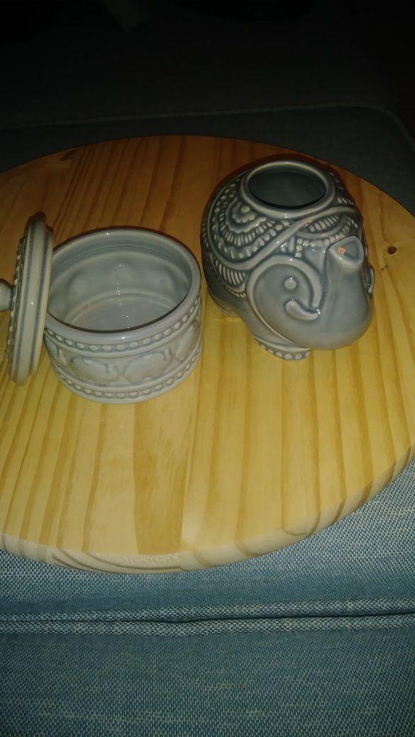Soft Green Ceramic Elephant For Sale In Boynton Beach Fl