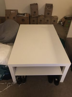 Large white coffee table for Sale in Portland, OR