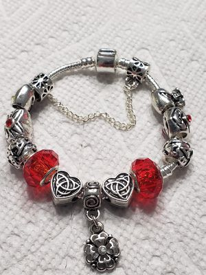 DIY Charm Bracelet - Red Crystal for Sale in Puyallup, WA