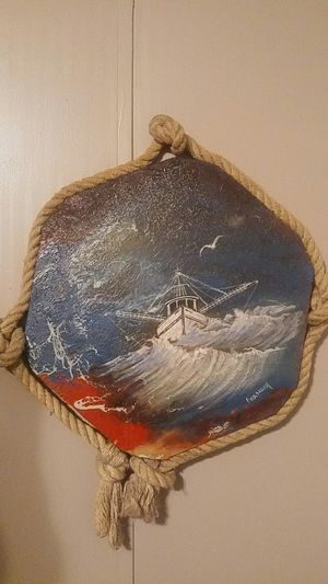 Hand Painting 2ft x 2ft of Boat for Sale in Chatsworth, GA
