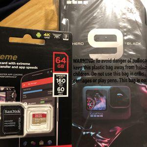GoPro Hero 9 With 64GB MicroSD card for Sale in San Bruno, CA