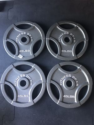 Olympic weight plates (4x45Lbs) for $380 Firm on Price ***Brand New*** for Sale in City of Industry, CA