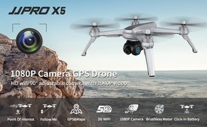 JJRC X5 EPIK Drone 1080P HD 90° Camera, GPS Return Home Quadcopter with Brushless Motor,18 mins Long Flight Time Drone for Adults, Follow Me (Gray) for Sale in Los Angeles, CA
