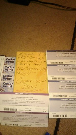 Cedar Point Tickets!!!! Hot Deal!!!! for Sale in Canton, OH