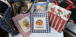 Longaberger sm fabric shopping bag, new $20/ea, used $10/ea/OBO for Sale in New York, NY