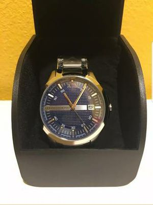 NWT Armani Exchange Men's Watch Silver SS Bracelet and Blue Dial 48MM. AX2132 new selling for only $120. for Sale in Long Beach, CA
