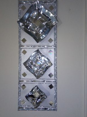 Silver 3D Flower Bling Glitz & Glam mirror picture for Sale in Memphis, TN