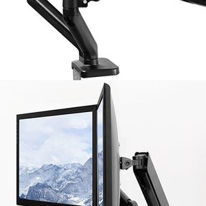 "(NEW) $35 VIVO (V002O) Fully Adjustable Dual Monitor Stand, Desk Mount, Screens up to 27"" for Sale in El Monte, CA"