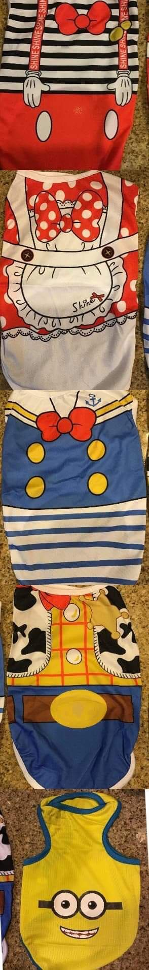 NEW DOG CLOTHES / CARTOON VEST / SHIRT / CLOTH FOR DOGS Sizes M, L, XL, XXL for Sale in Los Angeles, CA