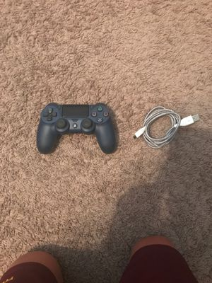 Blue PS4 controller two weeks on 5 foot charger for PS4 controller for Sale in El Mirage, AZ