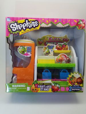 Shopkins Easy Squeezy Fruit and Veg Stand Playset for Sale in Phoenix, AZ