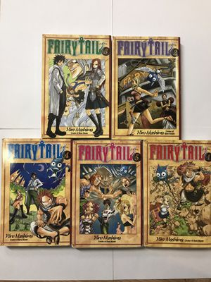 Fairy Tail vol 1-5 (used) for Sale in Oceanside, CA