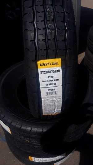 St205 75 r15 new tires trailer 4pcs $200 for Sale in Chino, CA