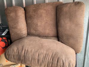 Chair with ottoman. Ottoman opens you can store blankets or etc. x for Sale in North Randall, OH