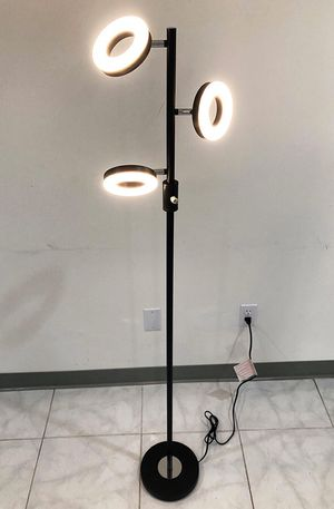 (New in box) $30 LED 3-Light Floor Lamp 5ft Tall Adjustable Tilt Lighting Fixture Home Decor Office for Sale in Downey, CA