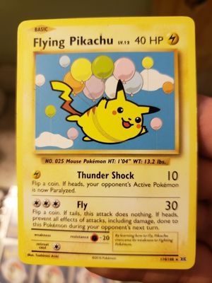Flying pikachu 2016 pokemon card for Sale in Los Angeles, CA