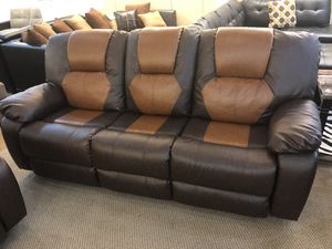 Reclining Sofa loveseat and chair set for Sale in Dallas, TX