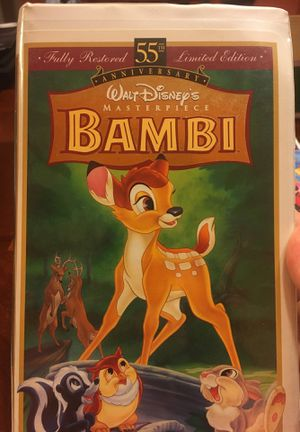 Walt Disney Bambi 55th limited edition VHS collectible for Sale in Winter Garden, FL