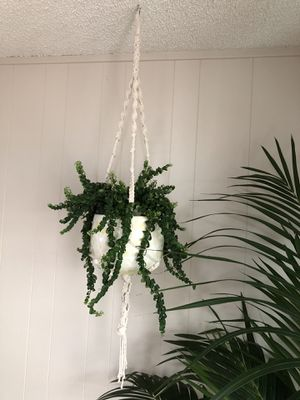 Macrame for hanging plant for Sale in San Diego, CA