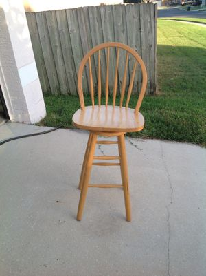 Chair-wooden stool with back for Sale in Lake Mary, FL