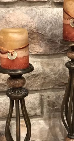 Beautiful Set Of Candleholders And New Candles for Sale in Redmond,  WA