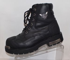 BLACK HARLEY DAVIDSON STEALTH RIDING MOTORCYCLE ANKLE BOOTS 91642 SZ8.5 for Sale in Norwich, CT