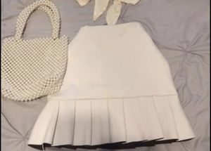White a line skirt with ruffles for Sale in Yucca Valley, CA