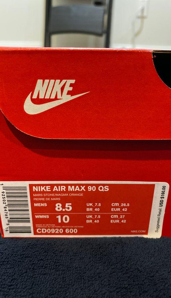 Air Max 90 Mars Landing sz 8.5