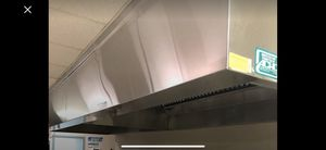 Commercial stainless steel hood total of 31 is eight andhalf Feet long the second one is also 8 1/2 feet long and the third one is 11 feet long for Sale in Bridgeville, PA