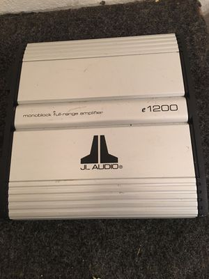 JL Audio amp Monoblock full-range amplifier for Sale in Murfreesboro, TN