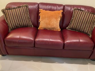 Red Leather Sofa bed for Sale in Fort Lauderdale,  FL
