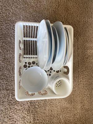 Kitchen drying tray, plates and bowls for Sale in Dublin, OH