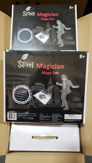 New in box Street Magician Magic Set Over 80 Possible Card Tricks with Storage Bag kids learning educational toy family games for Sale in Whittier, CA