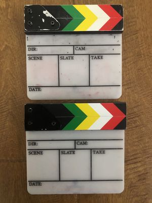 Acrylic Slate/Clapper for Sale in Los Angeles, CA